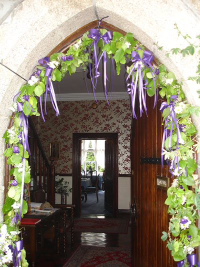 Wedding decorations at the Old Vicarage St Ives