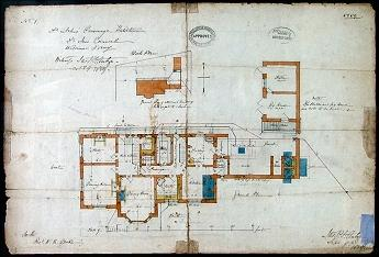 Architect's plan of the ground floor dated 1859